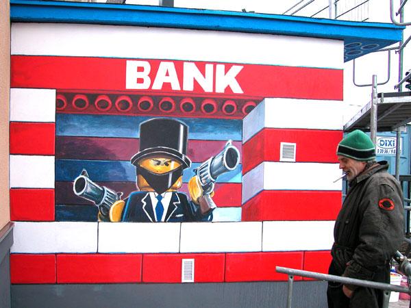 Bad Düsseldorf mural mobil 2009 bad bank